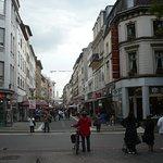 Auf der Einkaufstraße von Krefeld.