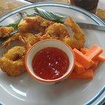Baignés de crevettes