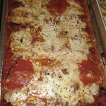 Eggplant Parm, catered by Hasbrouck Heights Pizzeria.