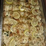 Seafood, catered by Hasbrouck Heights Pizzeria.