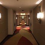エレベーターからの廊下 突き当たり付近が私の部屋