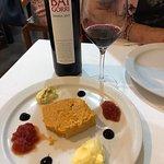 Pastel de cabracho y vino Baigorri