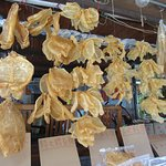 Dried seafood products for sale in Tai O fishing village