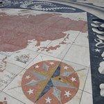 発見のモニュメント前広場の世界地図 日本