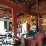 Parte interna do restaurante da Joana