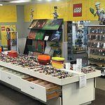 Over 2,000 lbs of pick-a-brick, the drawers are even sorted by color. Hundreds of different Lego(R) Baseplate options.