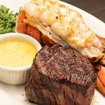 Family owner local KC restaurant. USDA PRIME filet from local steak company. Cut by the in-house butcher. Farm raised with natural grain. The lobster tails are never frozen. Steamed and broiled. House-made bearnaise sauce. Shopsmall