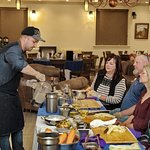 Chef Partick demonstrating during one of our Monthly cooking Classes