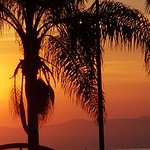 Just Past Dawn looking east from the Ajijic Malecon on Lake Chapala