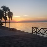 Looking east ad Day Break on Lake Chapala on the Malecon in Ajijic