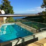Pool terrace at the Hotel Rural Bentor, Los Realejos, Tenerife.