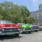Cuban streets are literally filled with American cars from the 1950's. It's a rolling car museum