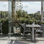 Our urban rooftop terrace enjoys views over the Ouseburn