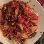 Delicious Mediterranean linguini