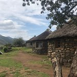 Stone houses in a Lesotho village.