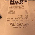 Photo of Mr. B's Bistro