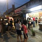 Long queue to get delicious putu piring!  Worth it!