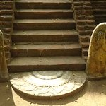 Well preserved guard stones and the moonstone