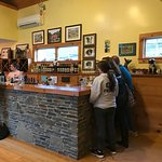 The bright sunny tasting room on a cold, dreary Friday was inviting.