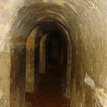 One on the darkened tunnels with soldiers rooms to the left and right as you walked down through them.