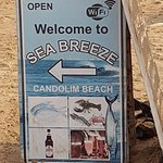 Candolim beach in calangute with the amazing Sandra @ sea breeze beach shack