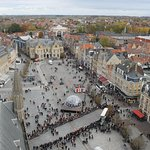 Photo looking from the Belfry towards the Menin Gate