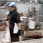 CARL, the hot chocolate snowman production at Kate Weiser Chocolates