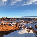 Goblin Valley covered in fresh snow