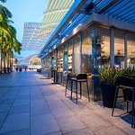 Visit our amazing outdoor seating and enjoy the excellent views of the Marina Bay