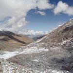 Khardung La, top ( actual altitude 17580 feet), on Leh Nubra highway, Ladakh in September