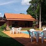 Pousada Capão da Coruja, área externa com piscina aquecida