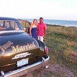 1950 Desoto at the beach for photos