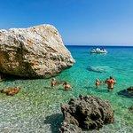 Sweet Water Beach or Glyka Nera Beach in Chania
