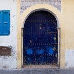 blue door in the medina