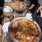 Three amazing pizzas.