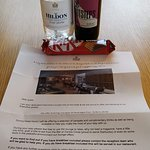 One bedroom suite with balcony - Room number 155. Lovely welcome for being Hilton honours members
