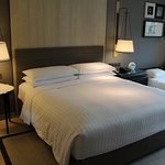 Our Superior room featured a king bed as well as an extra bed.