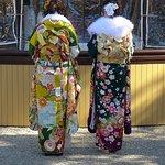 Kimonos at Sumiyoshi Shrine