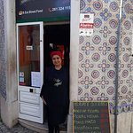 Our staff Helena Centeio in front of the Restaurant