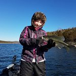 Chilly day to be on the lake, but hey...great catch!