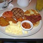 Mini American breakfast with extra pancake & hashbrown