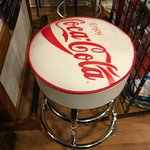 Coke cola bar stools