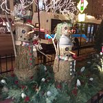 The variety of decorations along Michigan Avenue is to be noted.