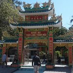 Entrance gate to grounds and Dinh Ba Temple