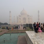 A misty Taj Mahal - common in the winter - but up close it is so beautiful it takes your breath
