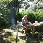 A lovely secluded spot for a barbecue !