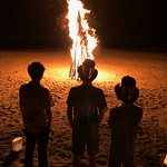 Las Alamandas had so the best bonfire I have ever seen one evening on the beach