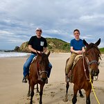 Horseback riding on the beach was super cool!