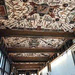 Gorgeous ceilings and hints at the wealth of the Medici family.