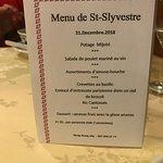 Menu de St Sylvestre